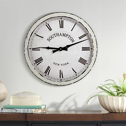 "Southampton 16"" Wide Vintage Wall Clock"