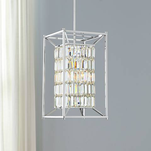 "Possini Euro Loring 12 3/4"" Wide Chrome Pendant Light"