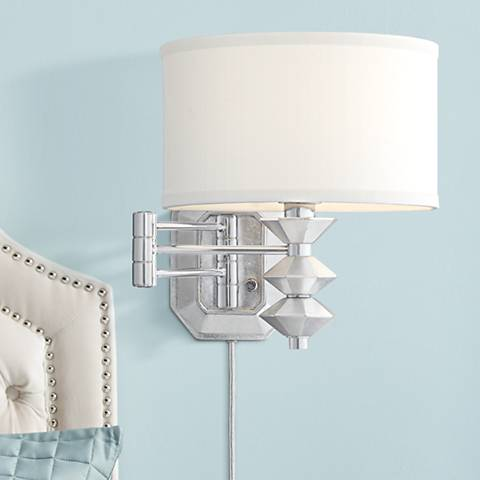 Possini Euro Currie Chrome Swing Arm Wall Lamp