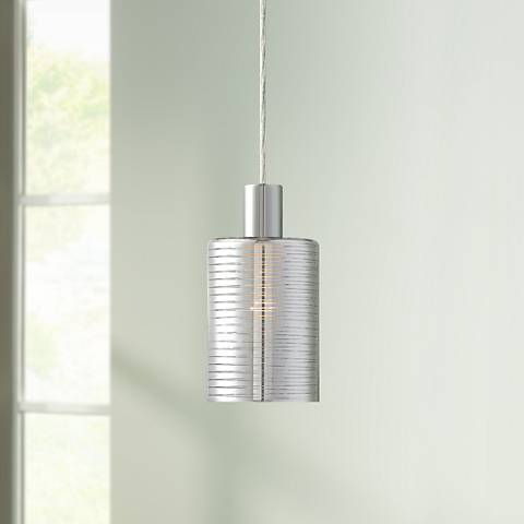 "Possini Euro Zarah 4 3/4"" Wide Chrome Mini Pendant"