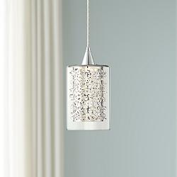 "Possini Euro Enya 5 1/2"" Wide Chrome LED Mini Pendant"