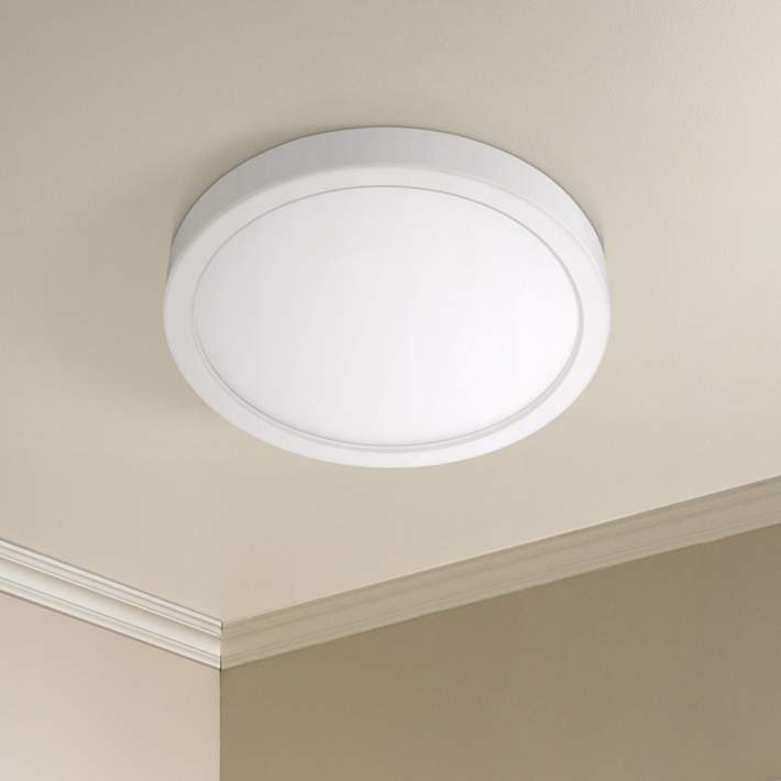 Disk 12 Wide White Round Led Ceiling