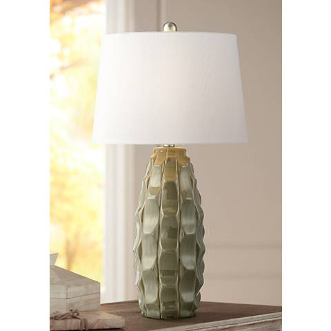 Oscar Textured Jar Ceramic Table Lamp
