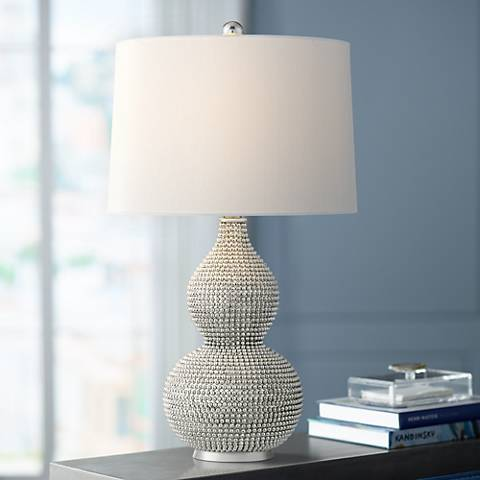 Lulu Chrome Double Gourd Table Lamp