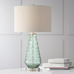 Julia Seafoam Green Glass Table Lamp