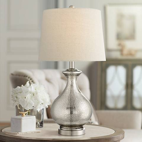Albert Mercury Glass Gourd Table Lamp