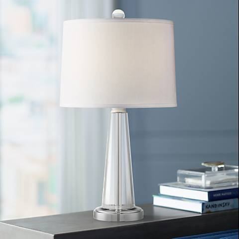 Ariana Tapered Crystal Table Lamp by Vienna Full Spectrum