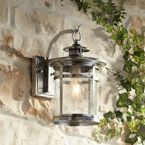 "Callaway Chrome 14 1/2"" High Outdoor Wall Light"