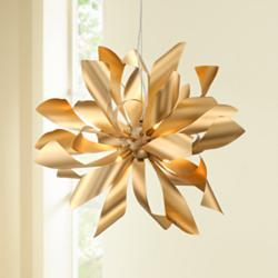 "Possini Euro Baldwin 25 1/2"" Wide Gold 6-Light Pendant"