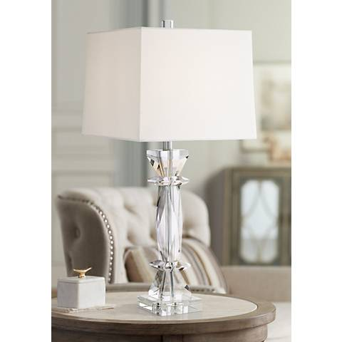 Irene Clear Crystal Table Lamp