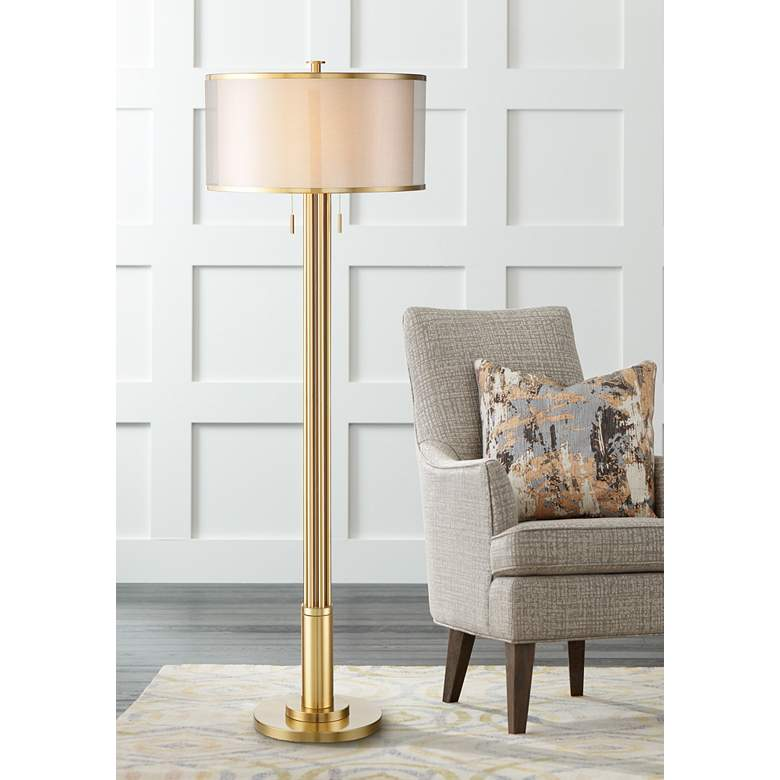 Possini Euro Granview Tall Floor Lamp with Double