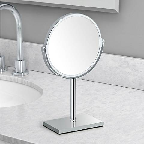 Gatco Latitude III Chrome Countertop Makeup Mirror