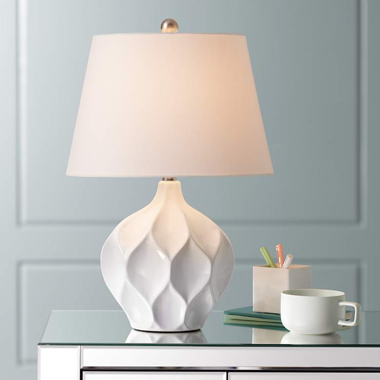Dobbs White Ceramic Accent Table Lamp