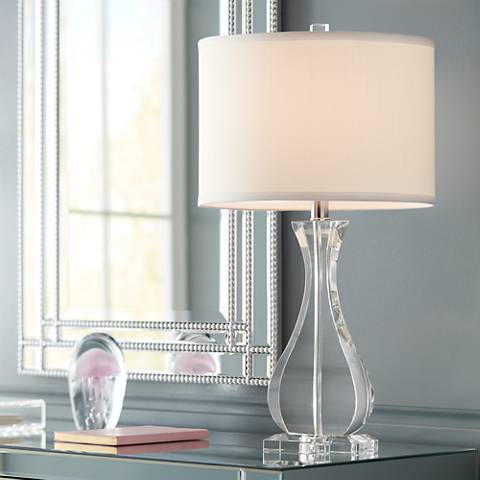 Amelia Crystal Vase Table Lamp