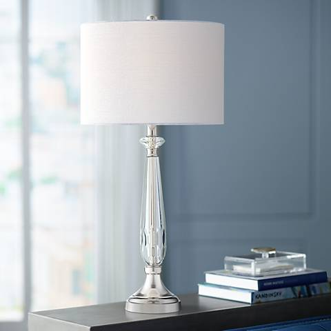 Marlowe Chrome and Crystal Table Lamp