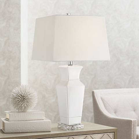 Maya Ivory Ceramic Table Lamp