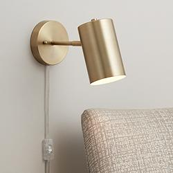 Carla Polished Brass Down-Light Pin-Up Wall Lamp