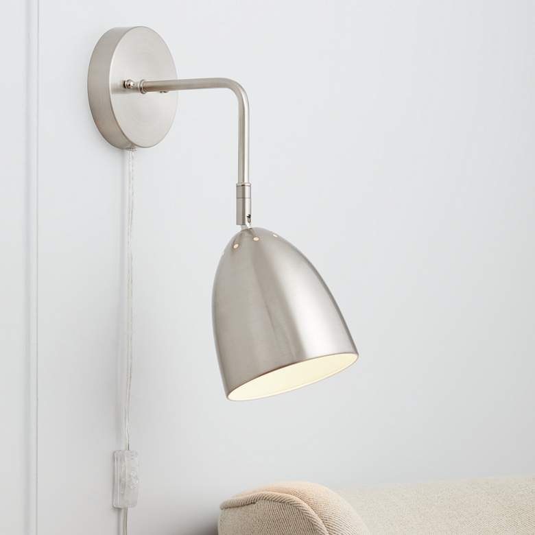 Byers Brushed Nickel Down-Light Pin-Up Wall Lamp
