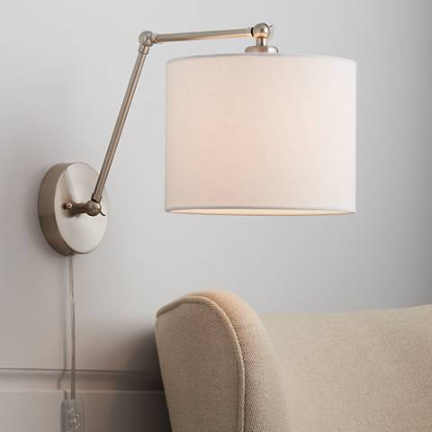 Barnes Brushed Nickel Down-Light Swing Arm Wall Lamp