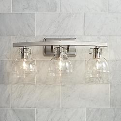 "Possini Euro Bellis 23 1/2"" Wide Brushed Nickel Bath Light"