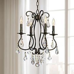 "Crystorama Ashton 16"" Wide English Bronze 4-Light Chandelier"