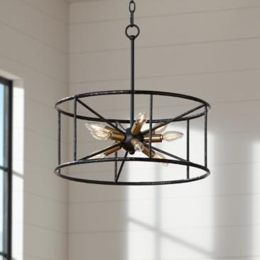 "Possini Euro La Vista 20 1/4"" Wide Black 9-Light Pendant"