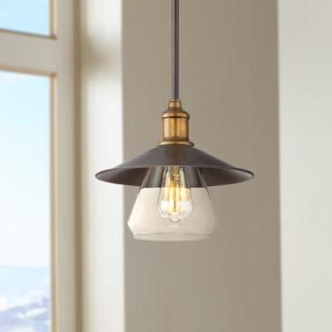 "Mile 10 1/4"" Wide Bronze Pendant Light"
