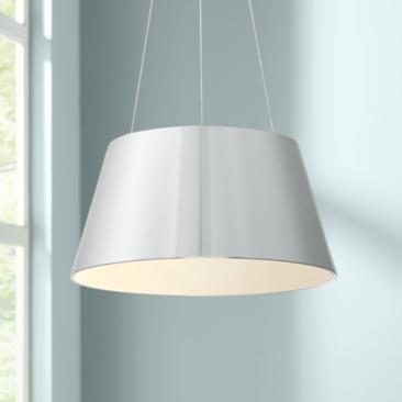 "dweLED Vida 24"" Wide Brushed Aluminum LED Pendant Light"