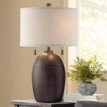 Franklin Iron Works Byron Pull Chain Table Lamp