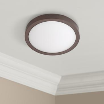 "Disk 12"" Wide Bronze Round LED Ceiling Light"