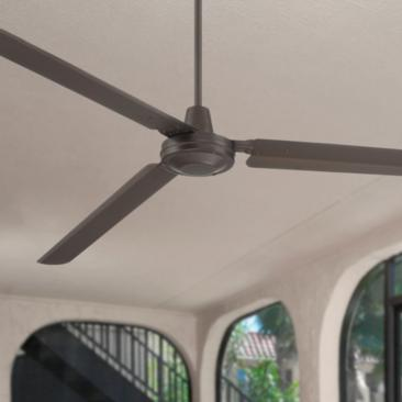 "72"" Casa Velocity Bronze Damp Ceiling Fan"