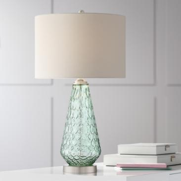 Julia Green Glass Table Lamp