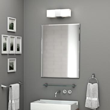 "Gatco Cameo 19 1/2"" x 24"" Frameless Flush Mount Wall Mirror"