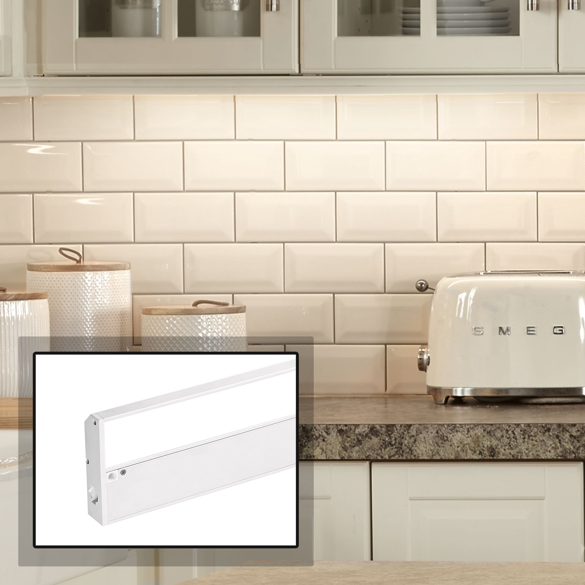 Cyber Tech 33  Wide White LED Under Cabinet Light & LED Under Cabinet Lighting - Kitchens and Counters | Lamps Plus