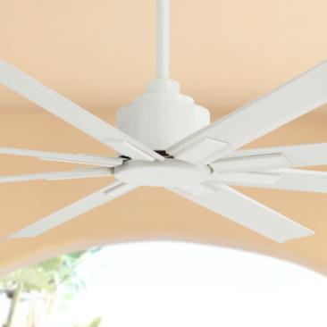 "65"" Minka Aire Xtreme H20 Flat White Wet Ceiling Fan"