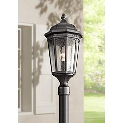 "Kichler Courtyard 23 3/4"" High Black Outdoor Post Light"