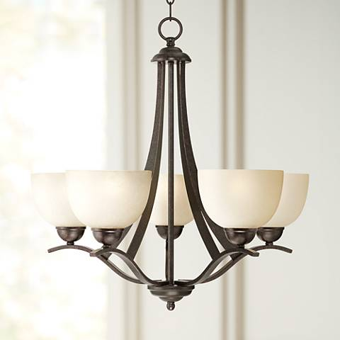 "Airington 23"" Wide Indian Scavo Glass Chandelier"