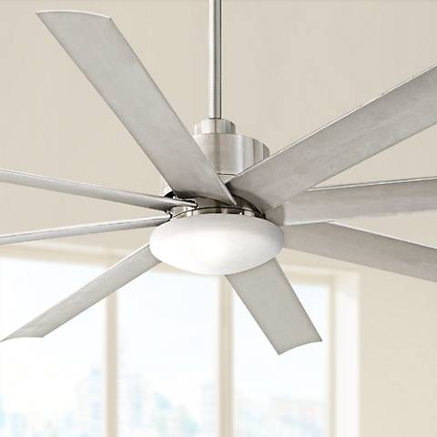 "65"" Minka Aire Slipstream Brushed Nickel Outdoor Ceiling Fan"