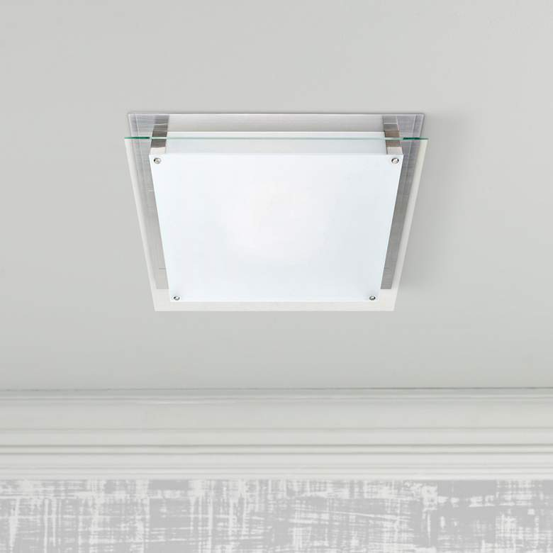 "Access Vision 11 4/5"" Wide Brushed Steel LED"