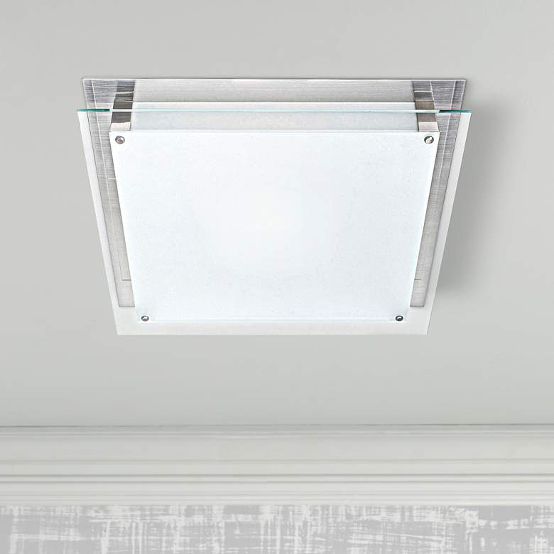 "Access Vision 15 3/4"" Wide Brushed Steel LED"