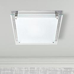 "Access Vision 15 3/4"" Wide Brushed Steel LED Ceiling Light"