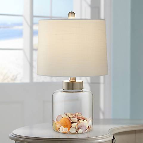 Glass Canister Small Fillable Accent Lamp