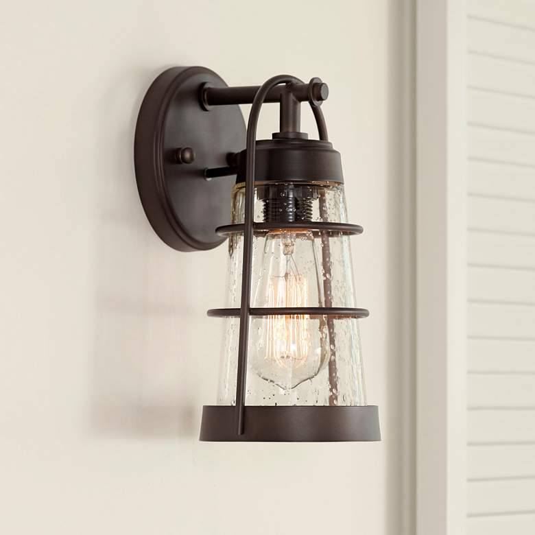 "Averill Park 10 1/4"" High Bronze Outdoor Wall Light"