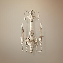 "Quorum Salento Collection 11 1/2"" Wide Persian White Sconce"