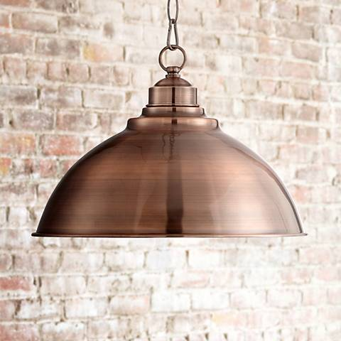 "Southton Copper Dome 13 1/4"" Wide Pendant Light"
