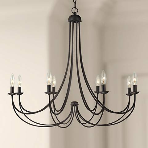 "Quoizel Mirren 32"" Wide Imperial Bronze Chandelier"