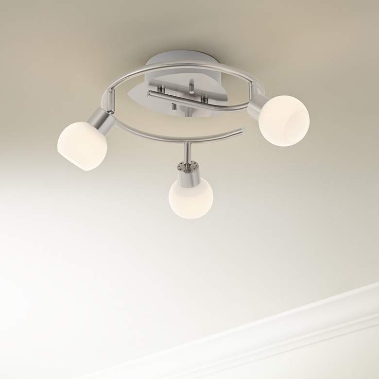 Pro Track® Satin Nickel 3-Light LED Ceiling Fixture