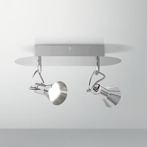 Pro Track® Blythe 2-Light LED Satin Nickel Track Fixture
