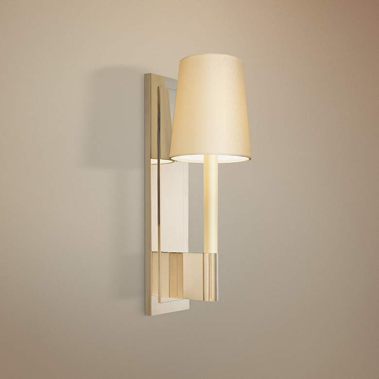 "Sonneman Sottile 16"" High Polished Nickel Wall Sconce"