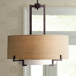 "Possini Euro Concentric Shades 25"" Wide Bronze Pendant Light"